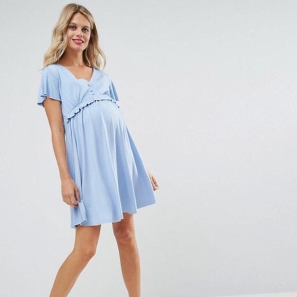 ad2391d2f9e7c ASOS Maternity Dresses & Skirts - ASOS Maternity Nursing Frill Detail Skater  Dress